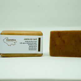 Jabón natural desodorante de café